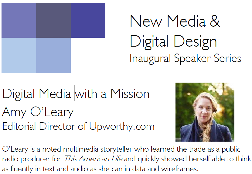 New Media & Digital Design Inaugural Speaker Series